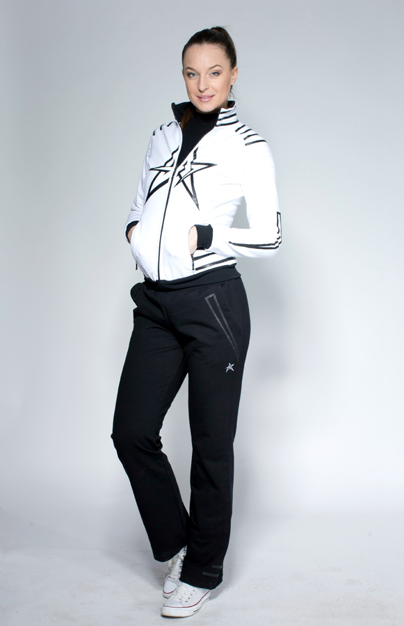 Woman Tracksuit White Black Reklys Collection