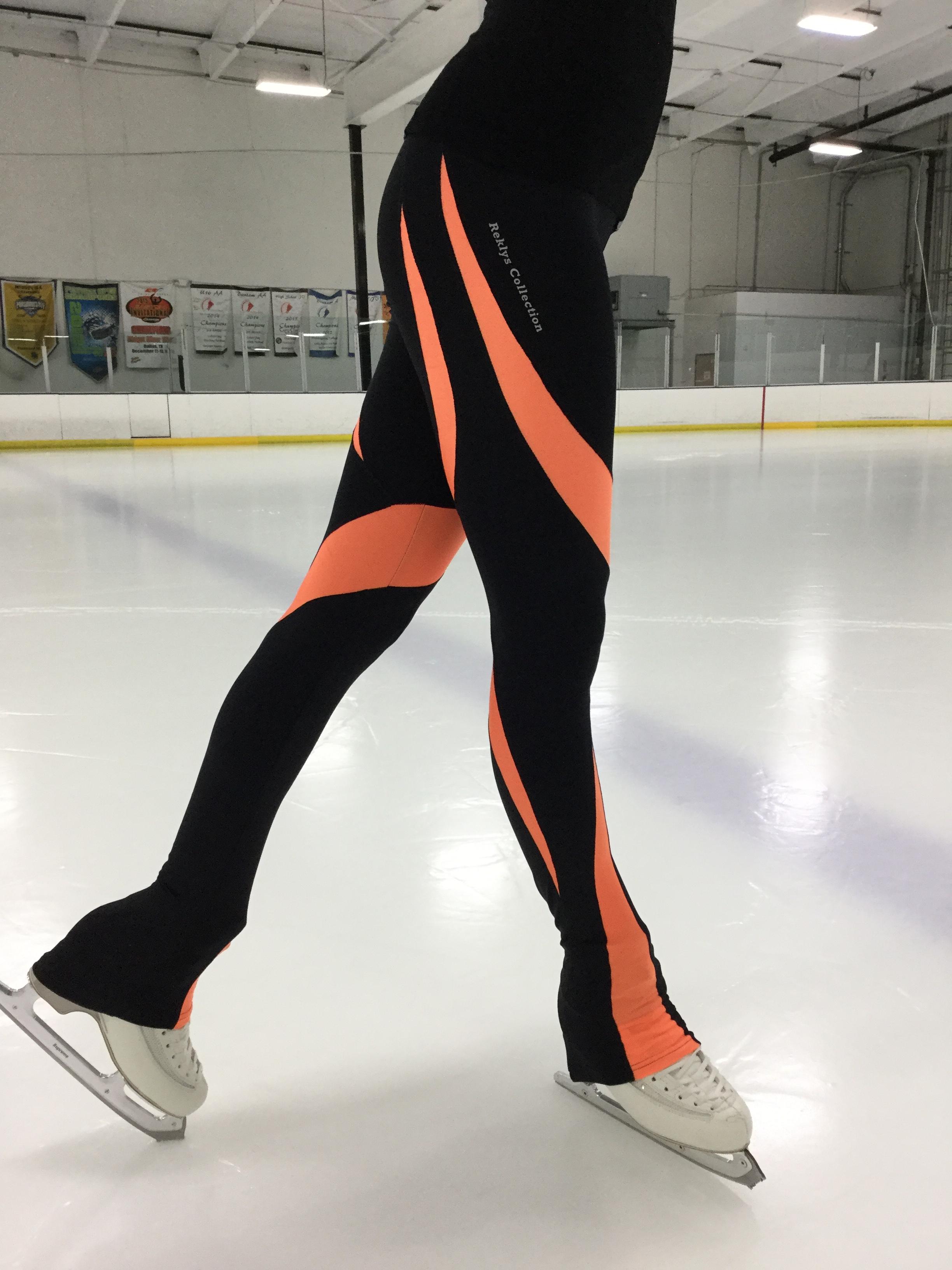 bebf34aaebbd0 Home/CHILDREN COLLECTION/LEGGINGS. Girls Skating Leggings Black/Orange